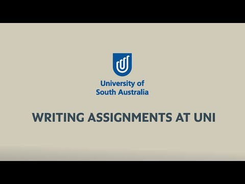 Study Help: Writing Assignments At Uni