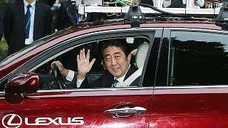 安倍首相、自動運転車に公道で試乗=自動車3社が国会周辺で実証実験