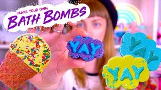 glitter bath bomb tutorial