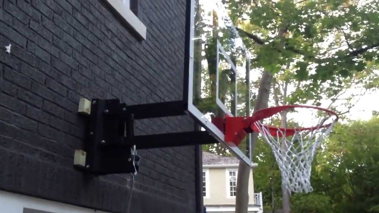 Adjustable Wall Mounted Basketball System Demonstration