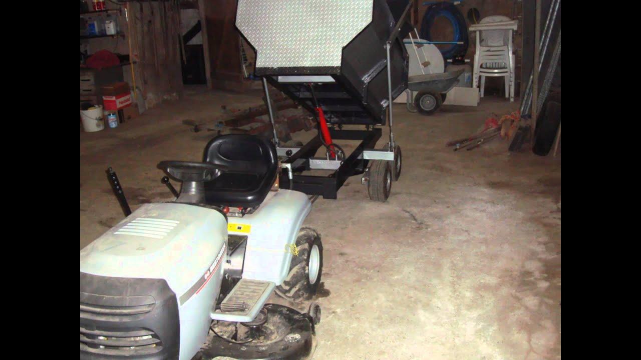 Remorque tracteur tondeuse  YouTube