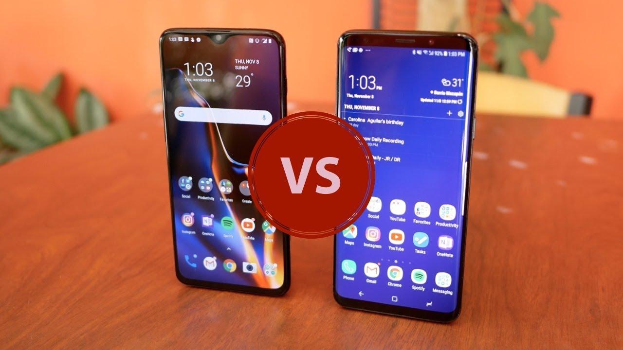 SAMSUNG S9 VS ONEPLUS 6T