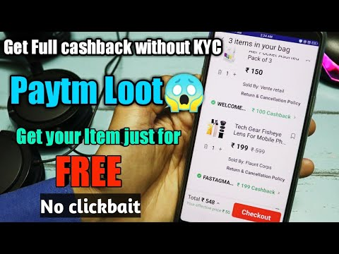 Get your cashback without KYC in Paytm | Paytm new promocodes for all users | Paytm loot