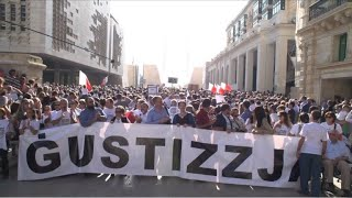 Maltese demand justice for murdered reporter
