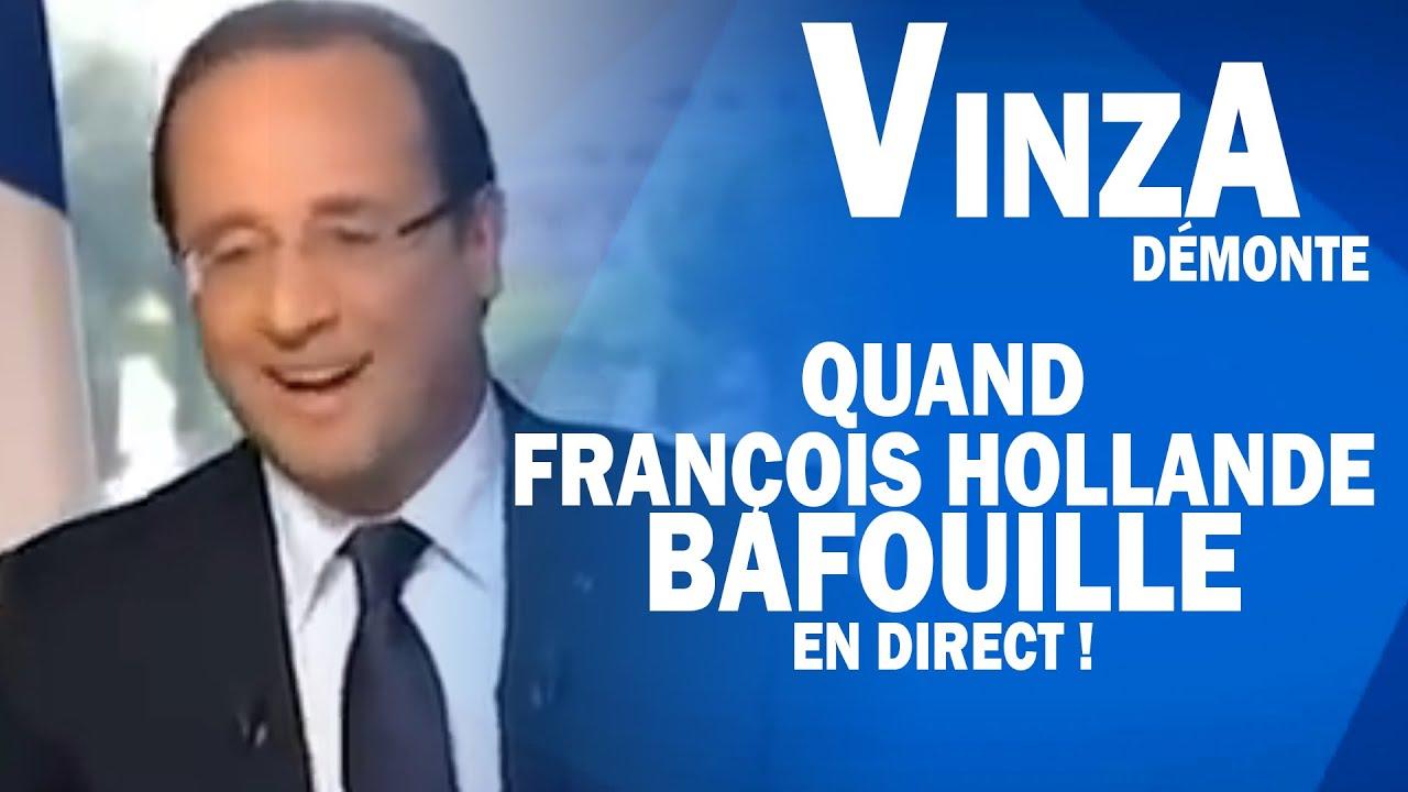 Humour : VinzA démonte Hollande   Quand François Hollande bafouille en direct ! - YouTube