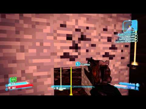 Borderlands 2 - Secret Minecraft Area With Creepers Easter Egg ! (Caustic Caverns) (PC)