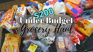 GROCERY HAUL UNDER BUDGET // $200 GROCERY BUDGET // CLEANING MOM