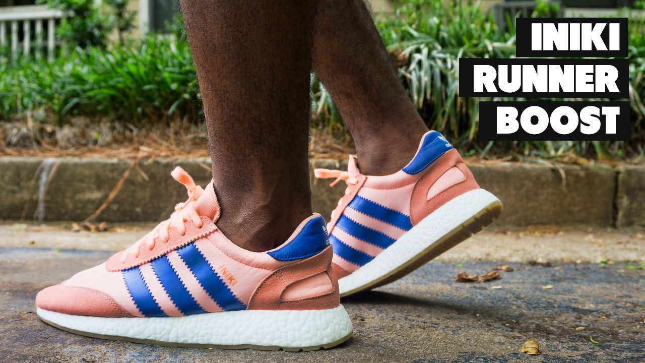 the latest 23b8d 5aa89 ADIDAS INIKI RUNNER BOOST SALMON GUM | Review + On Foot - YouTube