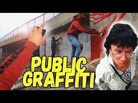 GRAFFITI IN PUBLIC | GoPro POV | ACTION | BOMBING | OSLO GRAFF