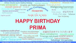 Prima   Languages Idiomas - Happy Birthday