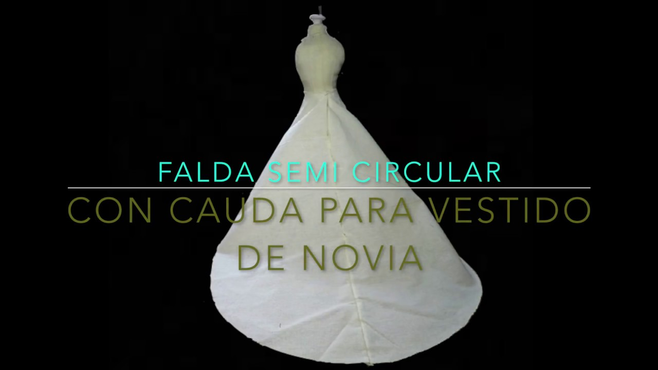 Como hacer falda para vestido de novia