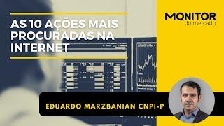 As 10 ações mais procuradas na internet 05/08/2021