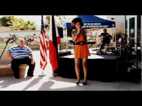 Joy Villa Performs At The Philipino Festival!