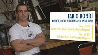 Fabio bondi is an alumnus of the george brown college italian culinary arts program. watch as explains how his experience at chef scho...