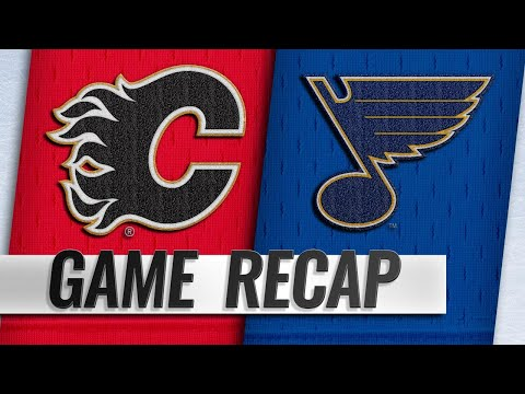 Perron lifts Blues past Flames with hat trick