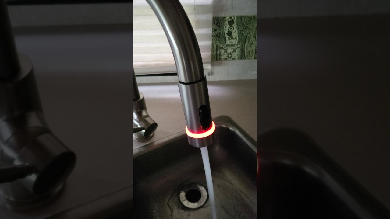 Delta Trask Pull Down Kitchen Faucet With Tempsense Youtube