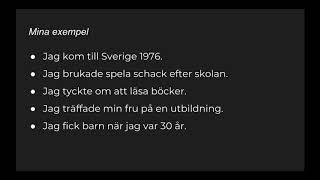 Lär dig svenska | Snabba tips | Enkel presentation i preteritum