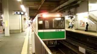 【大阪市営地下鉄】近鉄特急未更新22000系と並ぶ! 中央線20系2631F コスモスクエア行き@生駒