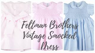 Feltman Brothers Smocked Collared Vintage Toddler Dress