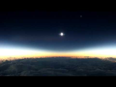 Solar Eclipse shows Flat Earth.