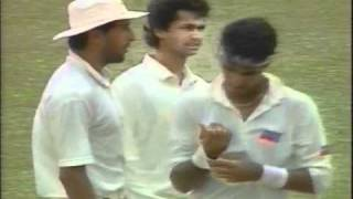Waqar Younis and Wasim Akram vs West Indies 1st test  1993