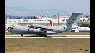 Pakistan Air Force IL-78M Departure from Istanbul Ataturk Airport (DutchPlaneSpotter)