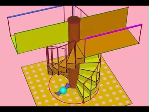 11 double escalier chambord youtube - Escalier colimacon double niveau ...