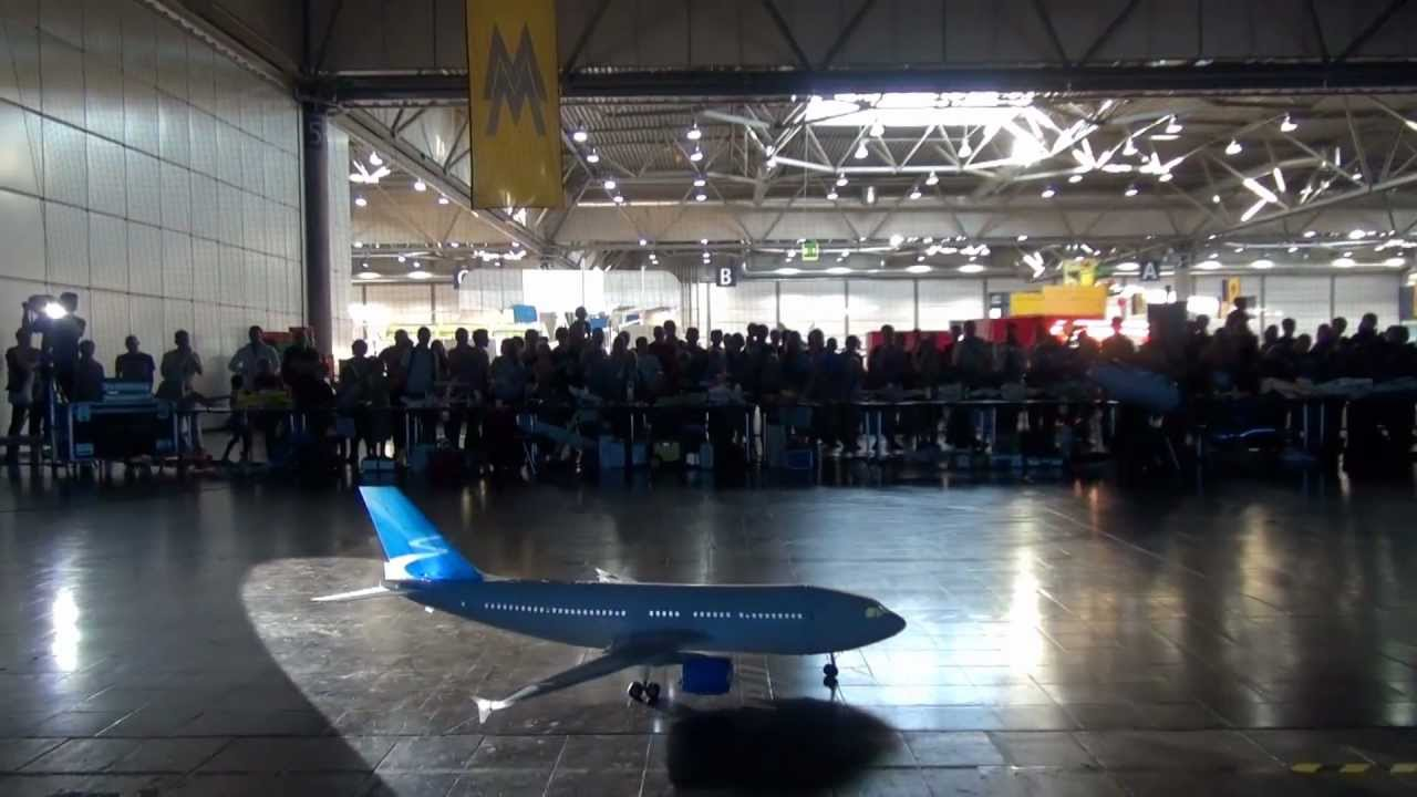 Airbus A310 by MM - indoor airshow Leipzig [HD]