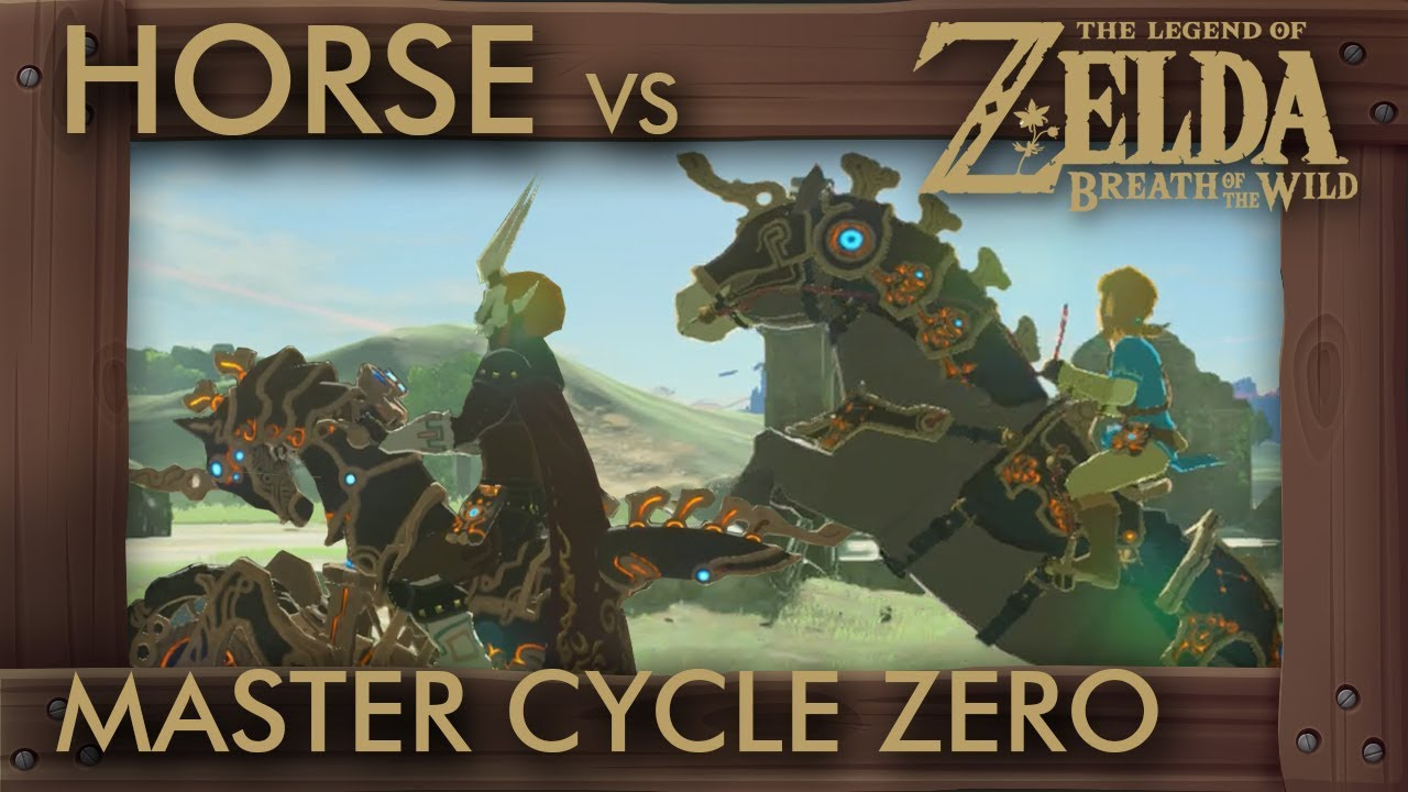 Zelda Breath Of The Wild Master Cycle: Is Master Cycle Zero Faster Than Best Horse?! Zelda Breath