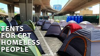 Those living on the streets are being moved to a temporary shelter adjacent to the City's Culemborg Safe Space. Over the past few days the City of Cape Town has been accommodating close to 300 street people at a lot situated under the N2 freeway.