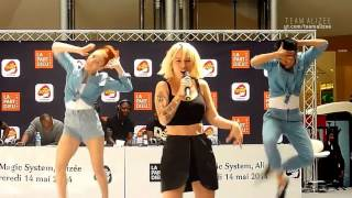 Alizée - Blonde @ Radio Scoop (Lyon 2014)