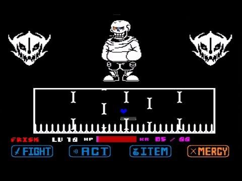 Underswap Papyrus Fight Bad Ending (Bad Time Simulator)