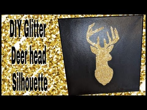 diy-glitter-deer-head-silhouette|-easy-crafts-for-kids-and-adults