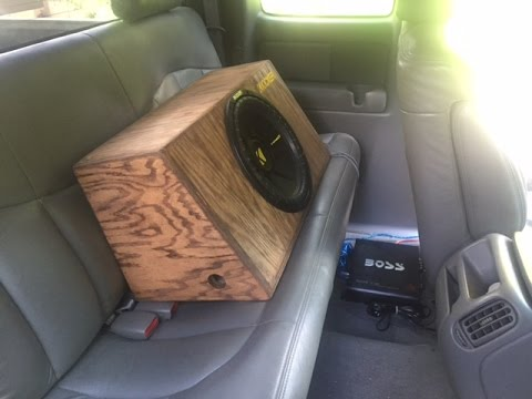 installing the sub in my truck part 2