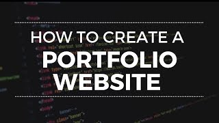 How to Create a Responsive Portfolio Website from Scratch - HTML, CSS, Bootstrap Tutorial