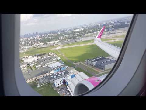 Airbus A321 take-off Wizz Air Chopin (WAW) Airport