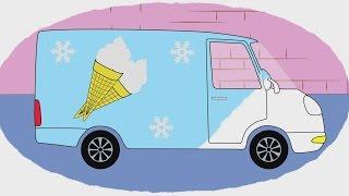 Мультик - Раскраска. Учим Цвета - Как делают мороженое