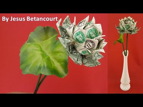 Money Origami Lotus (Flower) Instructions