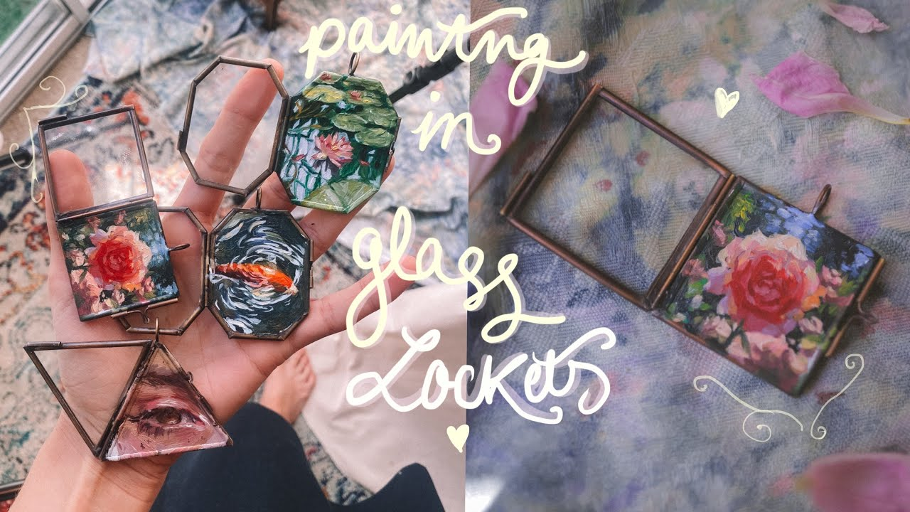 painting with oils in glass lockets 🌸 #PaintWithMe