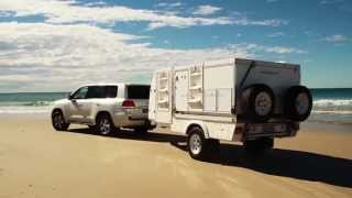 TRAYON CAMPERS 4X4 FILMING ADVENTURE - sandy beaches of Fraser island, Queensland, Australia