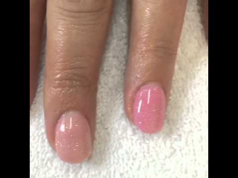 Pink SNS Signature Nail System Ombré look