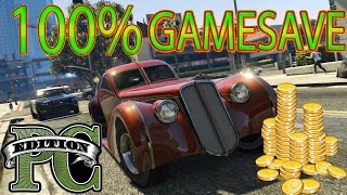 GTA 5 PC Completed Game Save Download - UNLIMITED MONEY,Everything UNLOCKED (100% Gamesave)