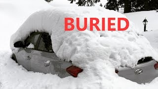 Buried Car, Foot Pain & Heavy Snow - Snowboarding Vlog