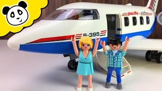 ⭕ PLAYMOBIL Film - Urlaub mit dem Passagier Flugzeug - Spielzeug auspacken & spielen Pandid