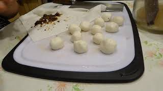 Making Brown Suger stuffed Mochi Rice balls on Chinese New Year of Dog with my mama.