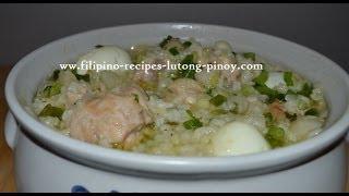 Chicken Arroz Caldo Recipe | Chicken And Rice Porridge Free Filipino Recipe Lutong Pinoy