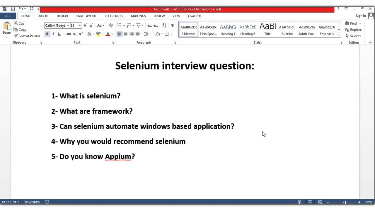 Selenium Webdriver Interview Questions And Answers Pdf