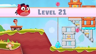 Angry Birds Casual Walkthough Level 21-30 (iOS Android Gameplay)