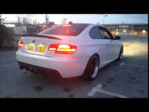 bmw 335d exhaust mapped non dpf youtube. Black Bedroom Furniture Sets. Home Design Ideas