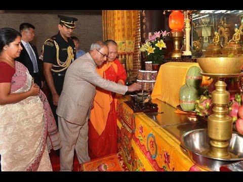 Slideshow-Hon'bleRastrapathyJi - CHINA VISIT-Visiting-Hua Lin Temple-THANKING....